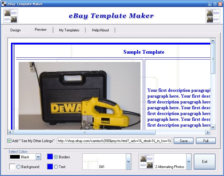 EBay Template Maker - Free ebay template maker