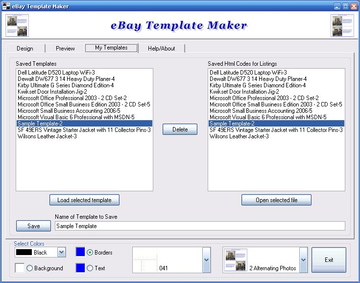 EBay Template Maker - Ebay listing template creator